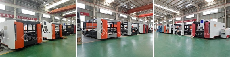 fiber laser cutting machine in production