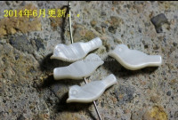 Fashion white bird shape shell jewelry beads accessory for bracelets