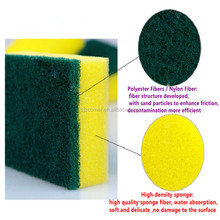 Scouring sponge clean kitchen accessory cleaning pad / scrub sponge kitchen scouring pad made in china