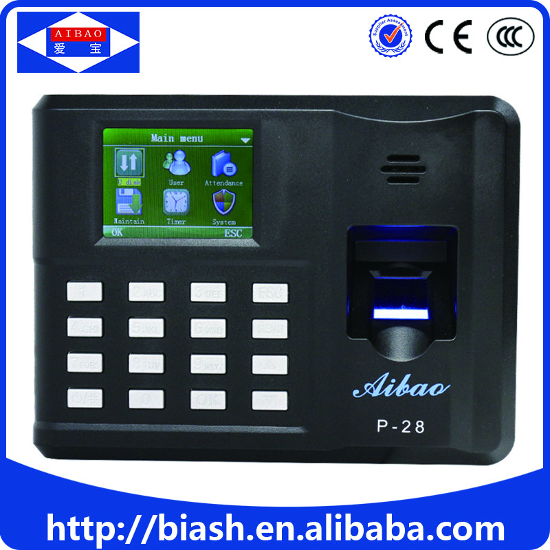 Portable biometric time in time out fingerprint attendance system