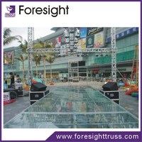 versatile indoor concert stage exhibition floor system portable glass stage