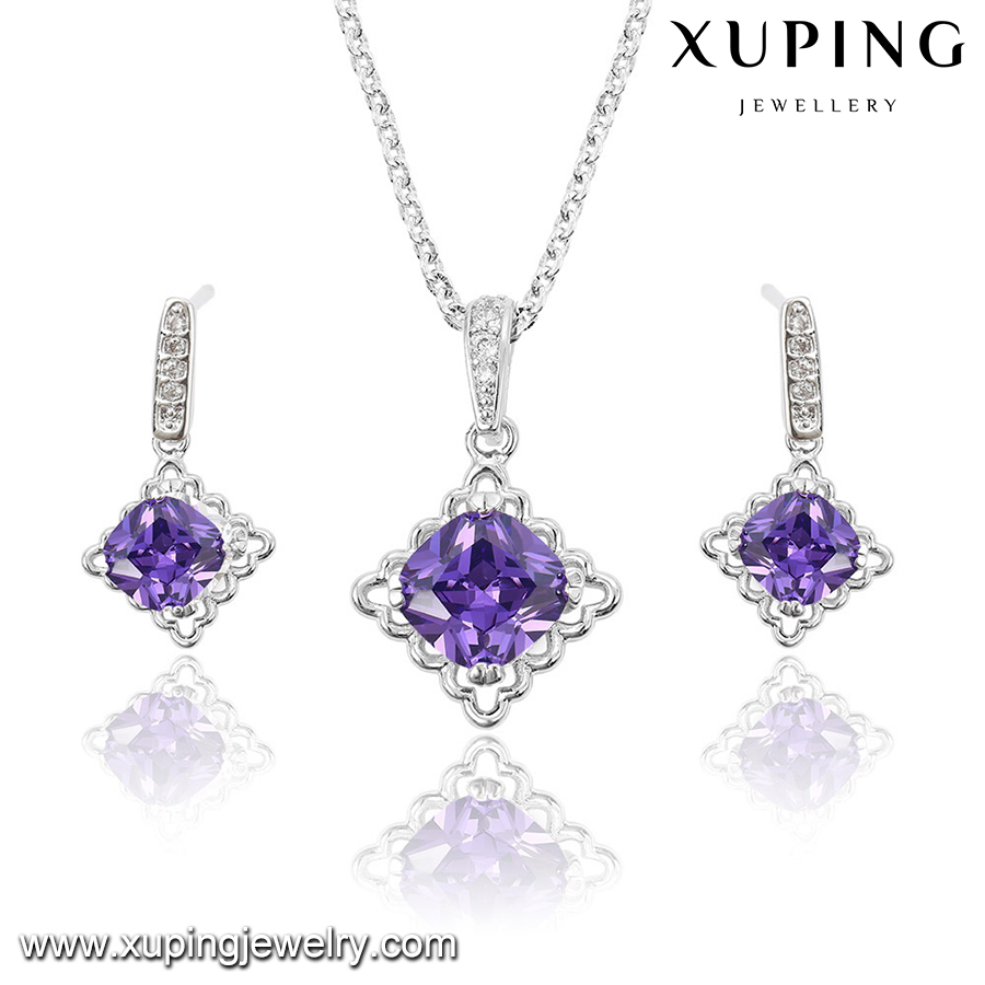 63933 XUPING fashion bridal jewelry set,necklace set jewelry for women