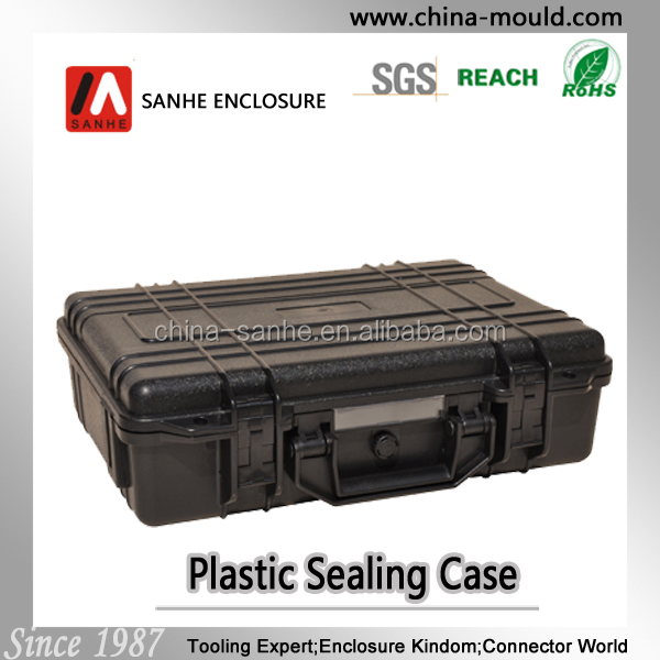 IP67 Hard equipment plastic carrying case with foam abs gun case
