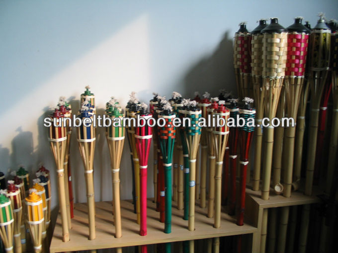 Colored bamboo torch