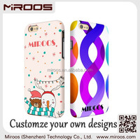 MIROOS custom 3D printing water transfer shockproof PC TPU hybrid cell phone cases for iphone 6