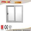 Anodizing aluminum frame 15mm thickness tempered glass sliding window