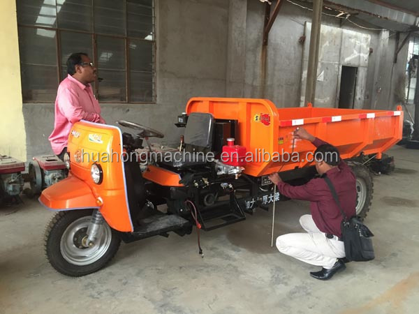 cargo dumper/large capacity electric tricycle/open body dumper