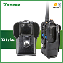 Hard Leather Carrying Cases for GP328 GP338 GP670 Two way radio Motorola radio