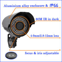 2013 Newest !!! CCTV Camera Specifications With 80M IR Sony CCD 700TVL