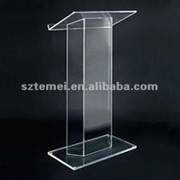 acrylic podium pulpit lectern or cheap acrylic lectern