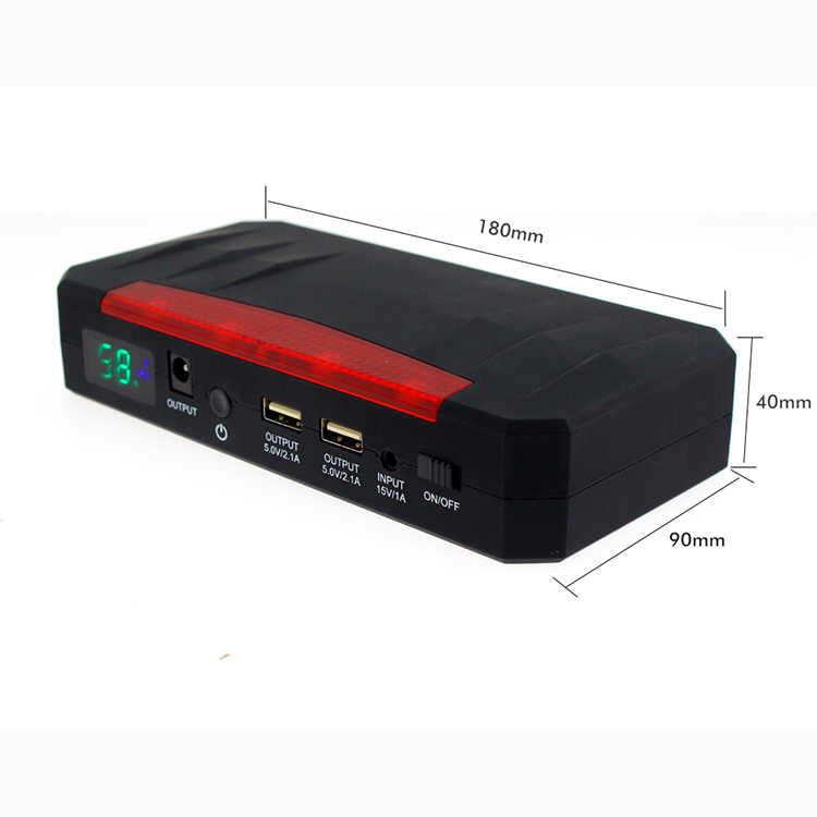 Lithium battery jump starter power bank  for car and motorcycle