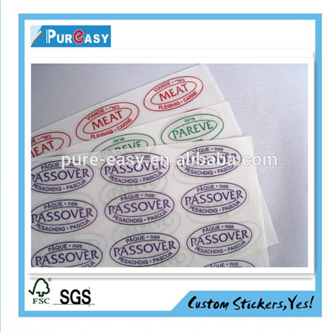 Custom high quality transparent QC pass sticker