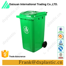 outdoor plastic garbage container trash can dusty bin with wheels