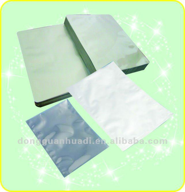small unprinted aluminum foil packing pouch