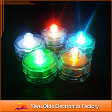 blue color waterproof cheap led candle submersible led light candle