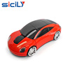 2.4GHz Sport Car Shape Optical Wireless Car Mouse with USB Receiver for PC Laptop Computer 1600 DPI 3 Buttons Red