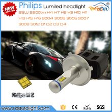 Newsun New arrival H4 H7 H8 H9 H10 H11 H13 H15 H16 9004 9005 9006 9007 9008 9012 D1 D2 D3 D4 55W 110W 5200LM P6 led head light
