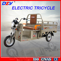 CE Open Passenger Three Rounds Electric Cargo Tricycle Rickshaw Car For Sale