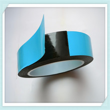 Double sided PE foam tape with blue film liner