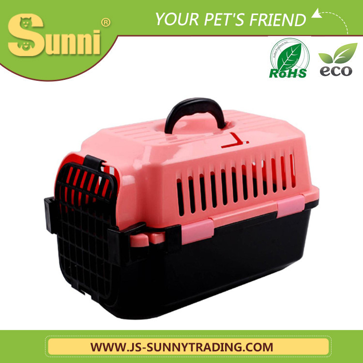 Pet traveling carrier portable dog house plastic