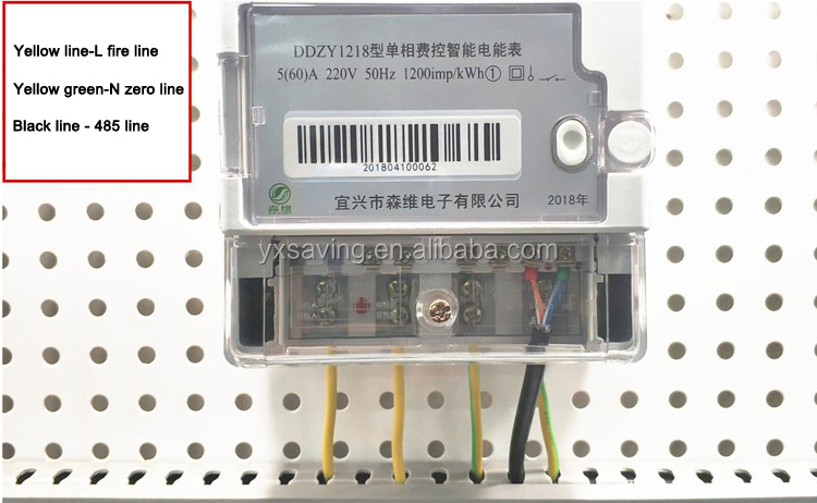 SAVING Remote Single-phase Cost-controlled GPRS Energy Electronic Power Meter with Module/Infrared/RS485/Pluggable Communication