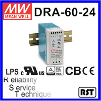 DRA-60-24 Single Output Switching Taiwan Mean Well 60W 24V Industrial Din Rail Power Supply