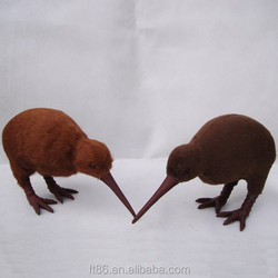 Hot sale love birds miniature unstuffed toys plush kiwi bird