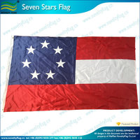 Seven stars Louisiana Battle civil war flag