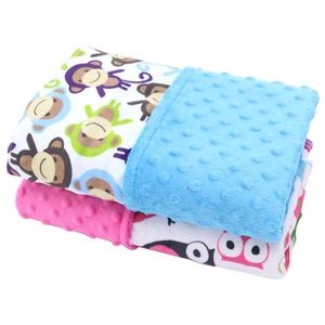 Discount price Amazon hot sale printed minky baby bubble blanket