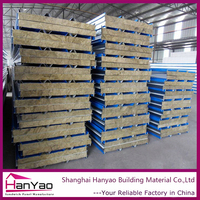 Shanghai Manufacture Insulation Rock Wool Roof Sandwich Panel Rockwool Roofing Sheet