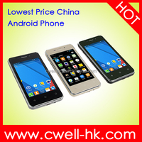 Original 4 Inch Touch Screen ECON G3 Dula SIM Card Lowest Price China Android OEM Mobile Phone