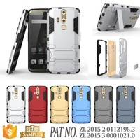 Hybrid kickstand slim armor case covers for zte axon phone