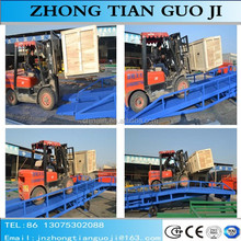 Competitive price portable mobile loading ram yard ramp used for container