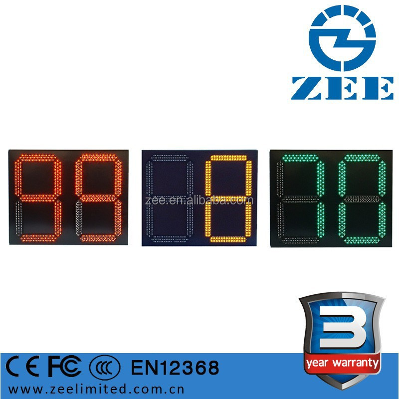 LED Traffic Light Timer, 2 digits and 3 color Digital Countdown Timer