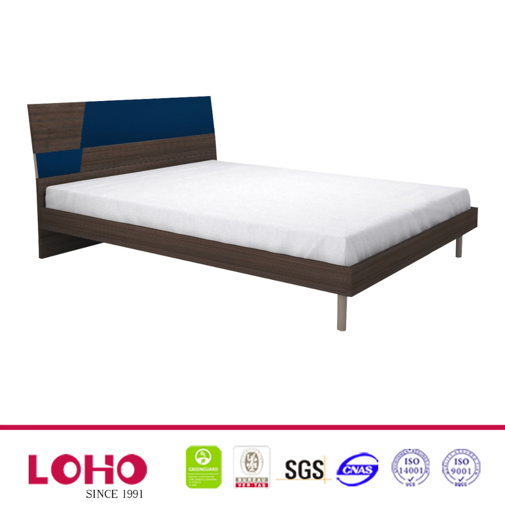 cheap MDF FASHION simple double bed design in woods