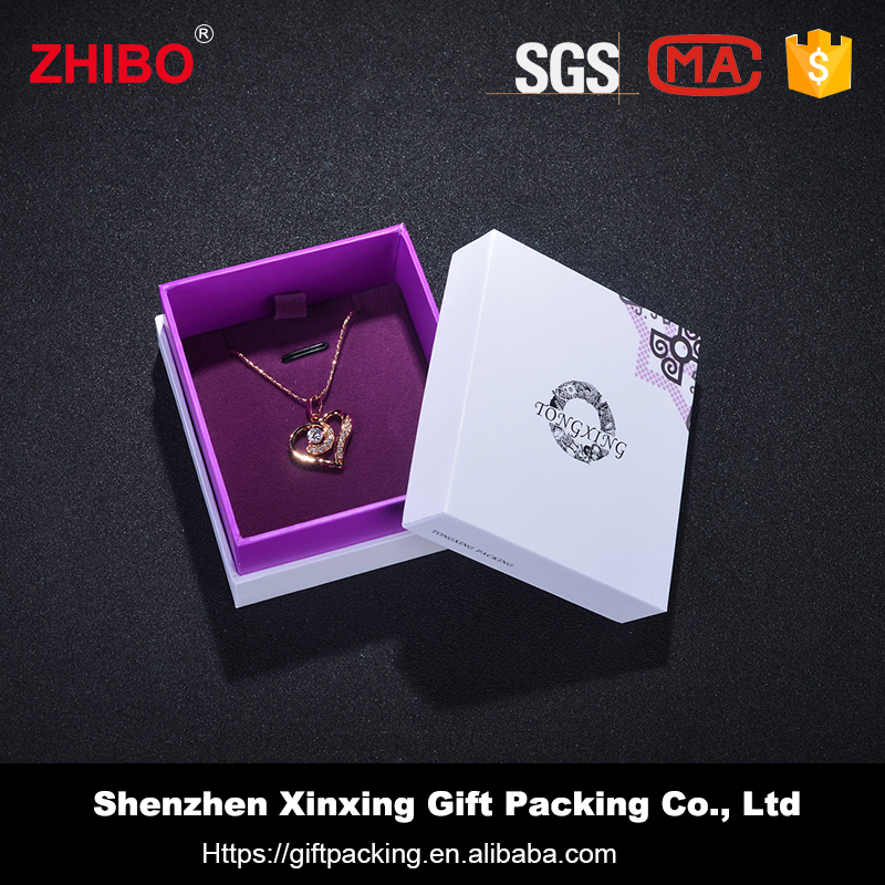 Fashion Jewelry box packaging custom paper