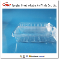 Retail food Plastic Container/blister.clamshell for fruit PET material