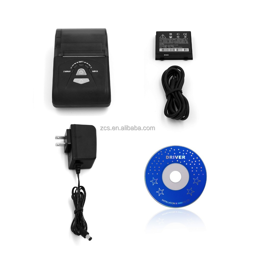 Receipt thermal printer with bluetooth interface