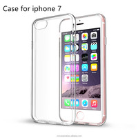 New Soft Slim Flexible Silicone TPU Case, Crystal Clear Transparent Screen Protect Design for Apple Iphone 7 ( 2016 release )