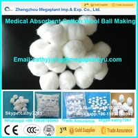 Medical alcohol cotton ball processing making machine