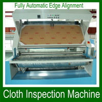 Automatic fabric inspection machine tension free/double face fabric inspection and rolling machine with low price