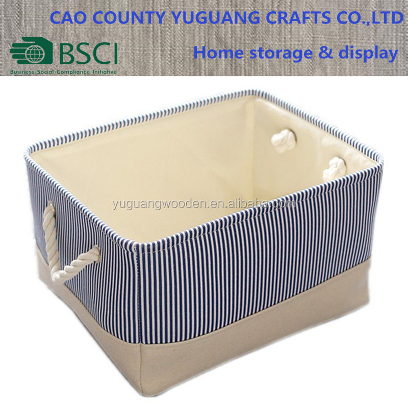 Rectangular Canvas Basket Toy Fabric Storage Bin