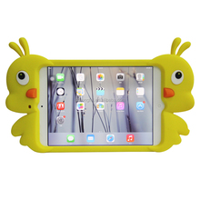 The Cute Little Yellow Duck silicone animal tablet case for iPad mini 2,For Children Soft Rubber Material Case for ipad mini