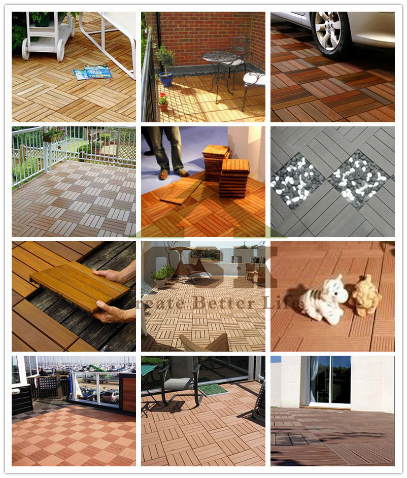 China Manufacturer WPC DIY Decking Tiles