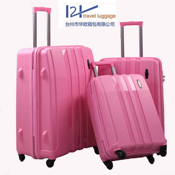 classical women luggage travel bags trolley