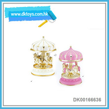 Gift For Christmas Home Decorative Plastic Vintage Simulation Carousel Music Box