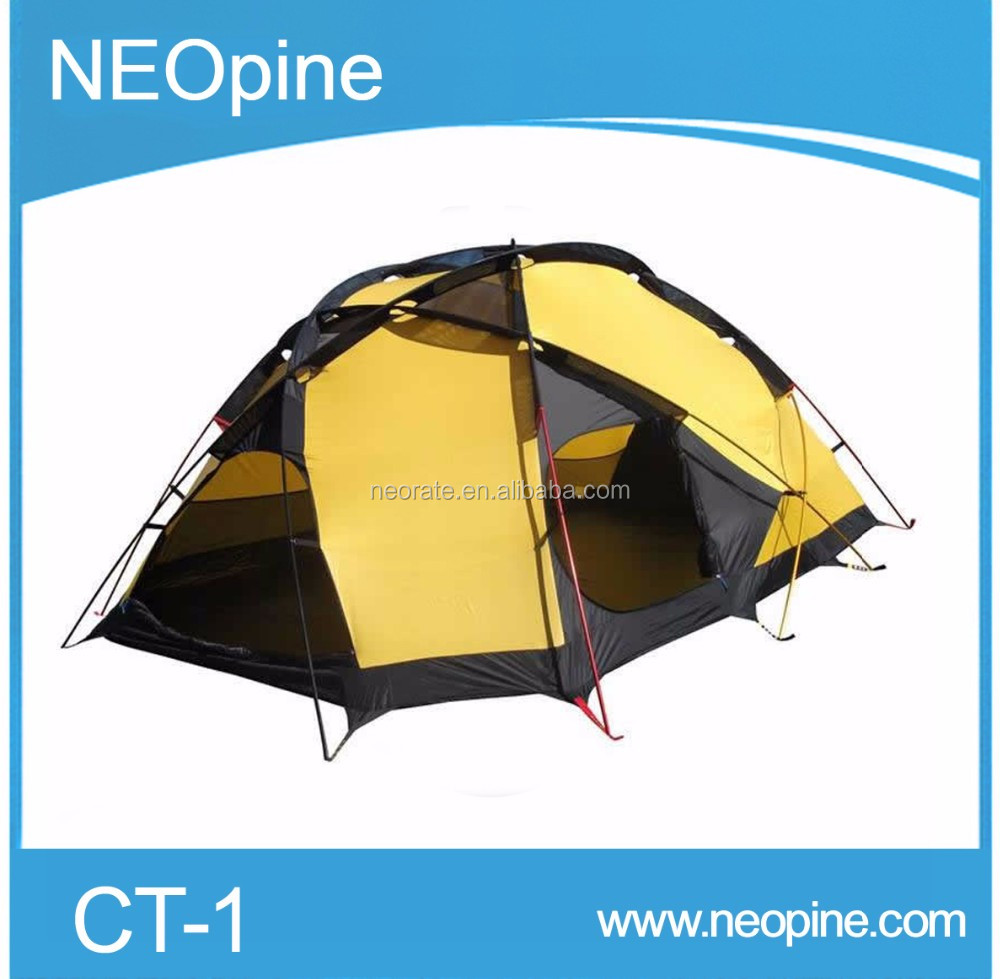 2016 new 4 Person 2 Layer camping tent,outdoor big 5 tent sale with With Fiberglass Pole