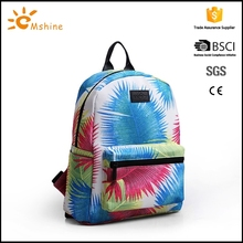 High quality waterproof material organic cotton canvas backpack