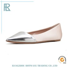 Shiny high quality 2014 flat shoes lady casual summer shoes