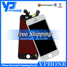 100% original lcd display touch digitizer for iphone 5 assembly, replacement for iphone 5 touch screen,for iphone 5 lcd